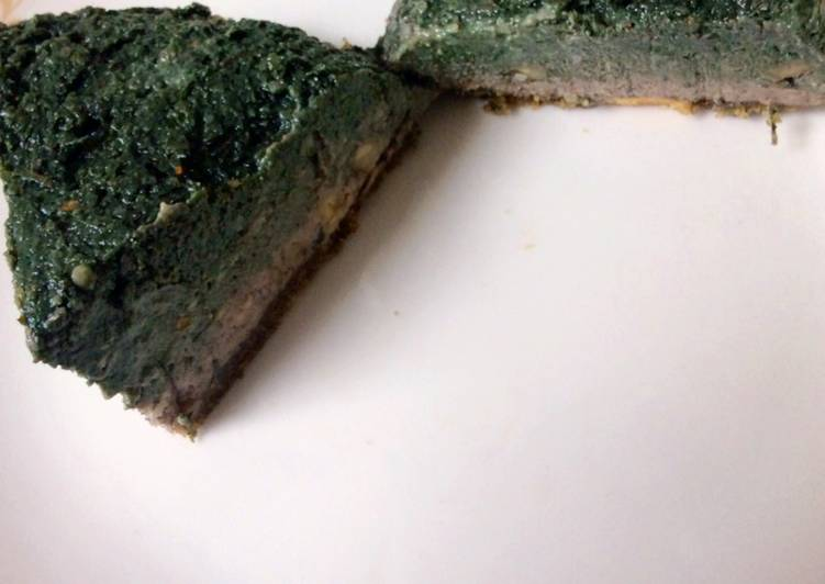 NO BAKE SPIRULINA- MINT CAKE