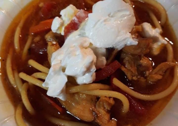 Smokey Chicken Noodle Soup