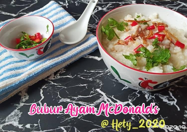 Bubur ayam McDonald's ala Rice Cooker
