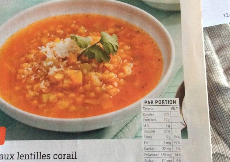 Soupe thaï aux lentilles corail