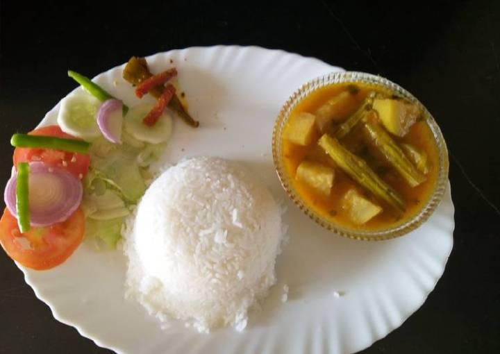 Toor dal Lauki Sem phali curry