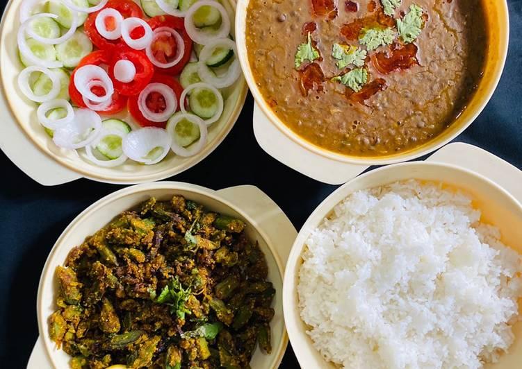 Besan wali bhindi,Masoor dal
