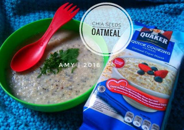 Chia Seeds Oatmeal (Quaker) #Diet