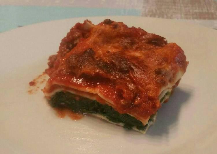 Lasagnes tomate épinards de la ruche