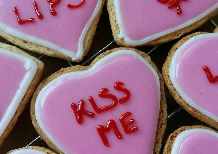 Vickys 'Love Hearts' Valentine Cookies, GF DF EF SF NF
