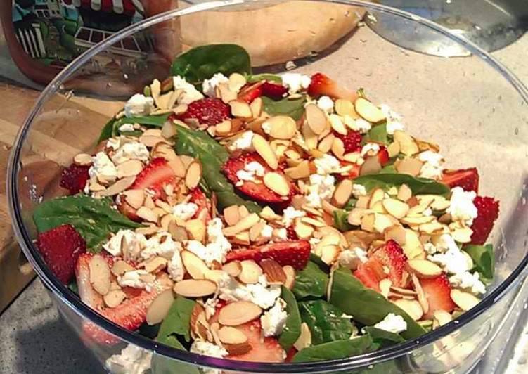 Sarah's Sexy Summer Spinach &  Strawberry Salad