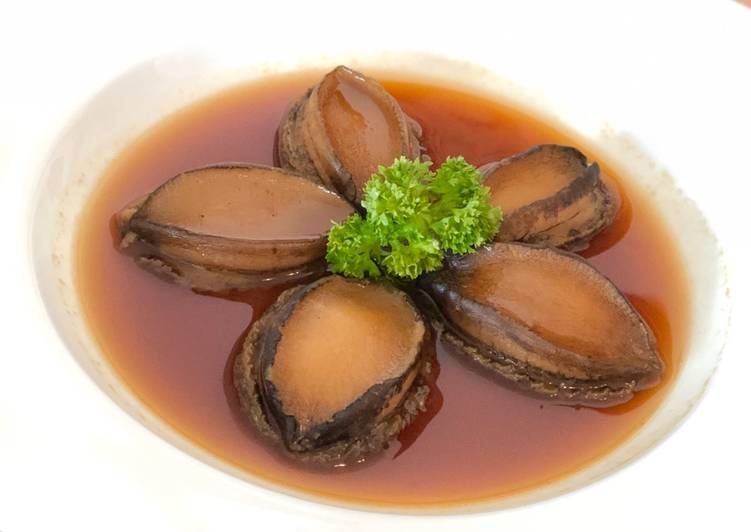 Slow cooked fresh abalone