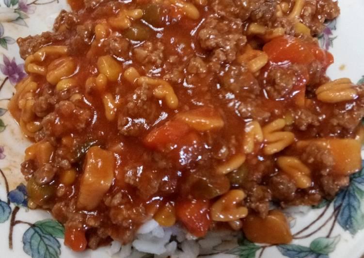 Nikki's Beef Stew Over Rice