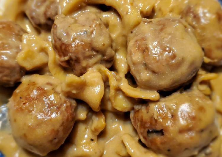 Pressure Cooker Swedish Meatballs with Noodles