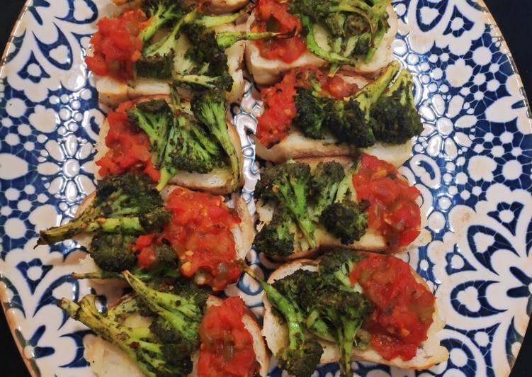 Pesto Salsa Bruschetta