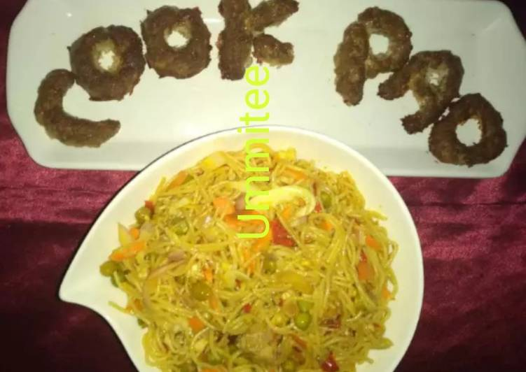 Ummitee's noodles with baked minced meat
