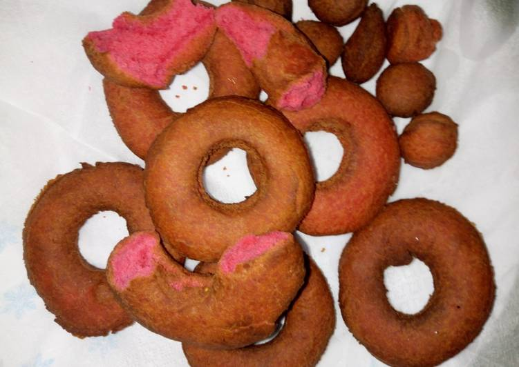 Red velvet doughnuts#my Valentine's recipe#author marathon