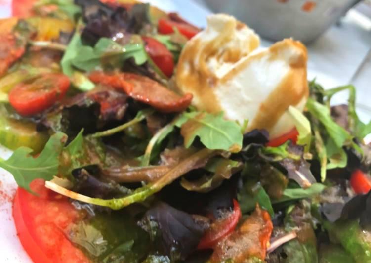 Salade de tomates 3 couleurs à la Burrata