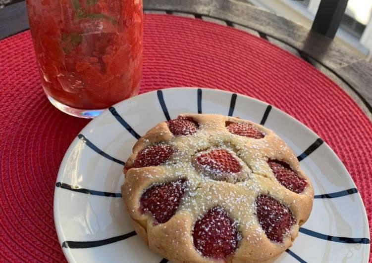 Gâteau aux fraises express