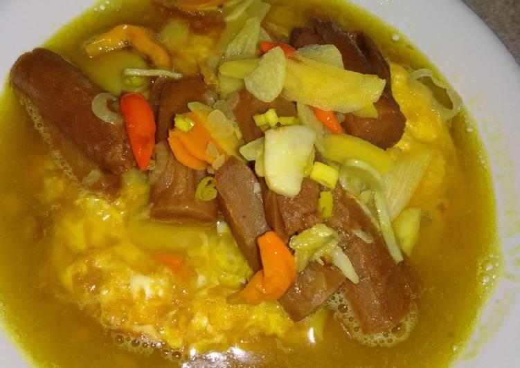 Pindang Sostel (sosis telur), pindang khas palembang