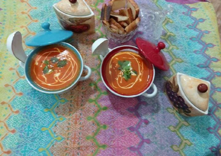 Tomato carrot beetroot soup / yammy tasty healthy soup