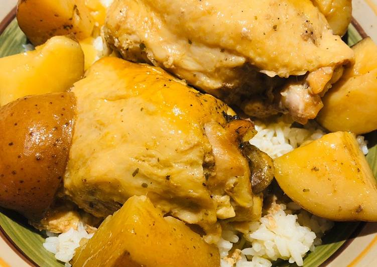 Crockpot Chicken with Red Potatoes