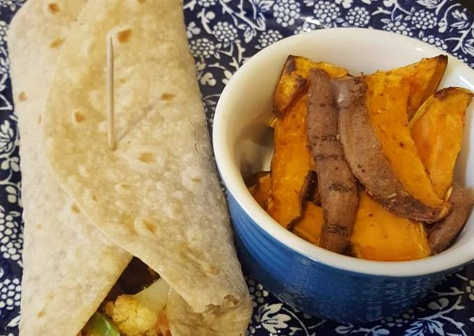 Cauliflower, chickpea wrap (Vegan)