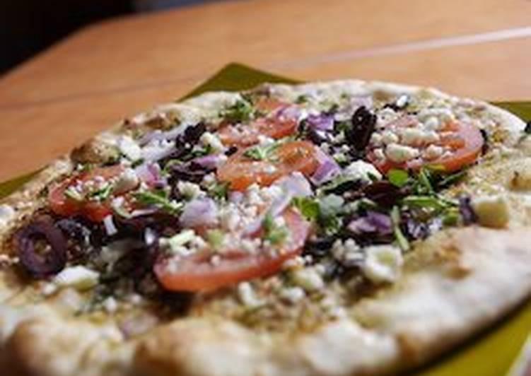 Whole Wheat Pizza: Portobello, Spinach and Feta Cheese Pizza