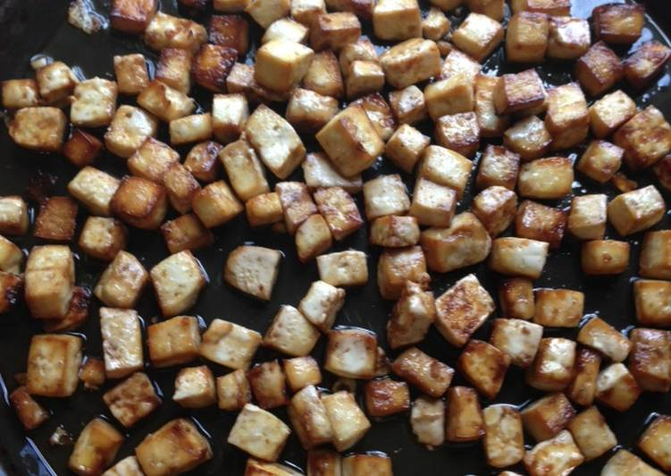 Sweet-Savory Glazed Tofu