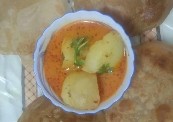 Homemade Kashmiri Dum Aloo Curry