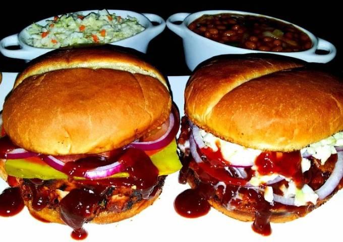 Mike's BBQ Chicken & BBQ Pulled Pork Sandwiches + Sides