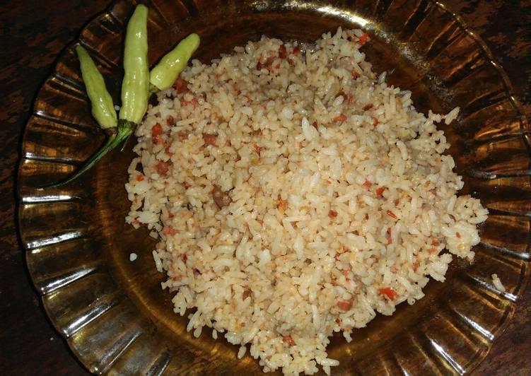 Nasi Goreng Terasi Kornet Sapi Pedas