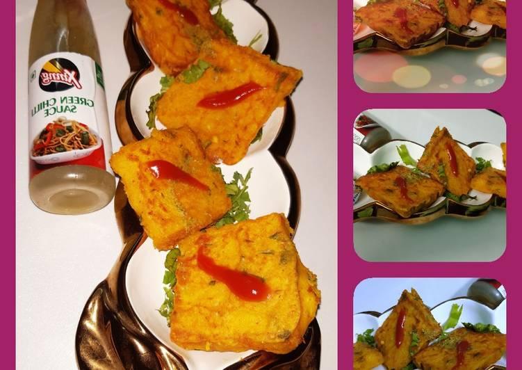 Bread suji pakoda - new style
