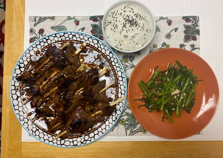 Garlic Ginger Beef and Broccolini