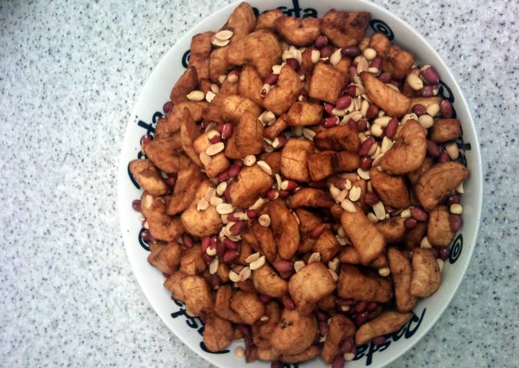 spicy fried plantain with peanut