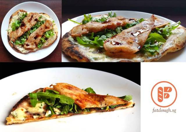 My Grilled Pizza: The Arugula-Chicken-Bacon