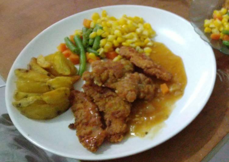 Chicken steak simple