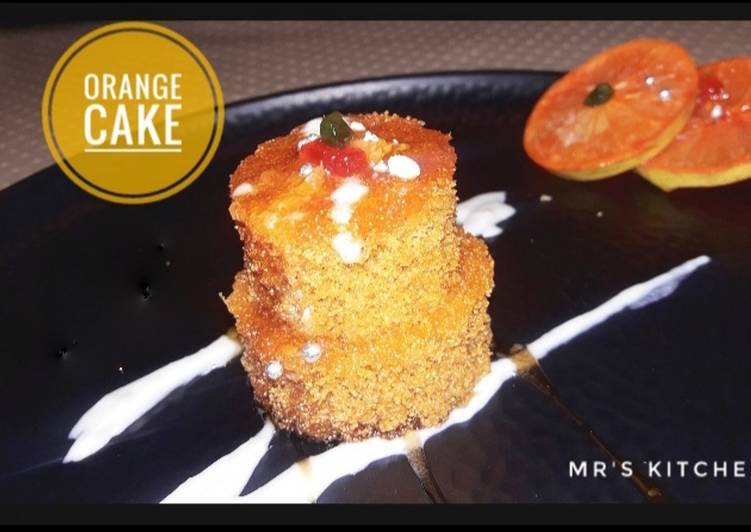 Orange marmled mini cake