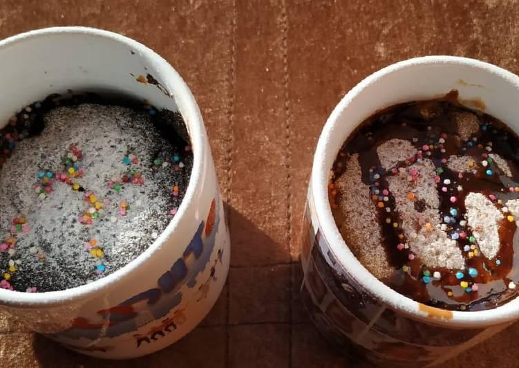 Chocolate and Coffee Flavours Mug Cakes