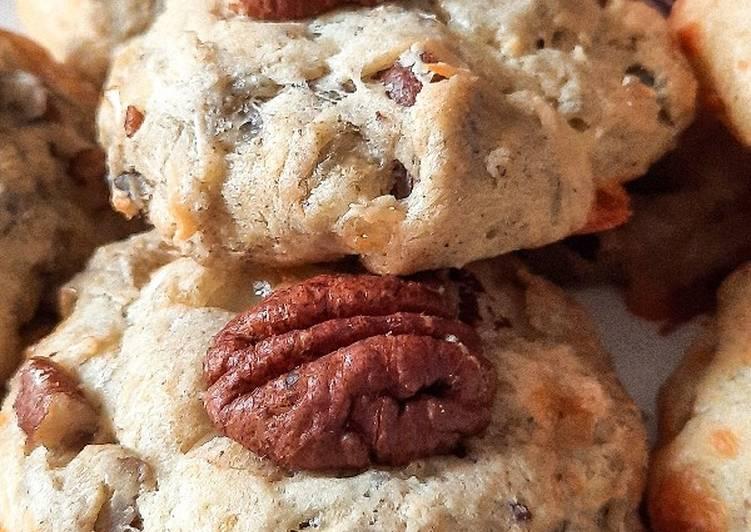 Cookies salés Roquefort et noix de pécan
