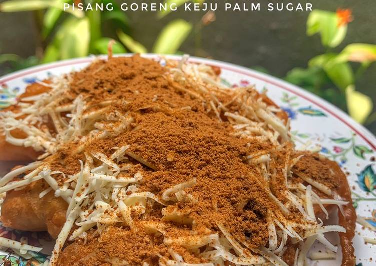 Pisang goreng keju palm sugar