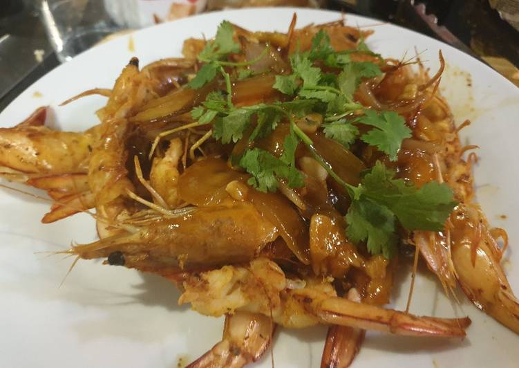 GRILLED PRAWN with sweet sauce