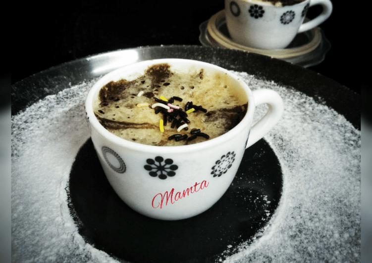 Choco-Vanilla Mini Mug Cake