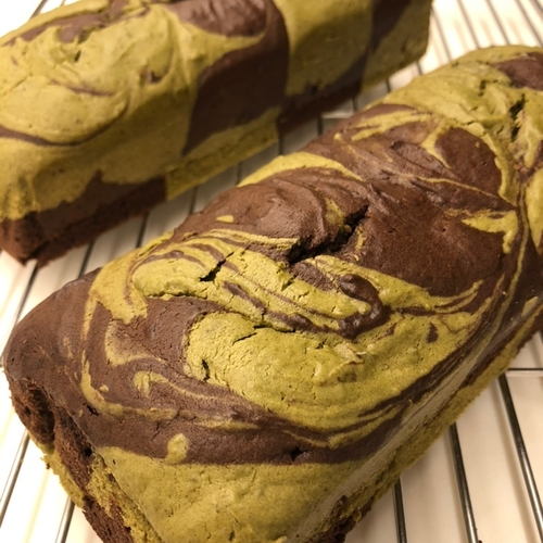 Choco-Matcha Marble Loaf Cake