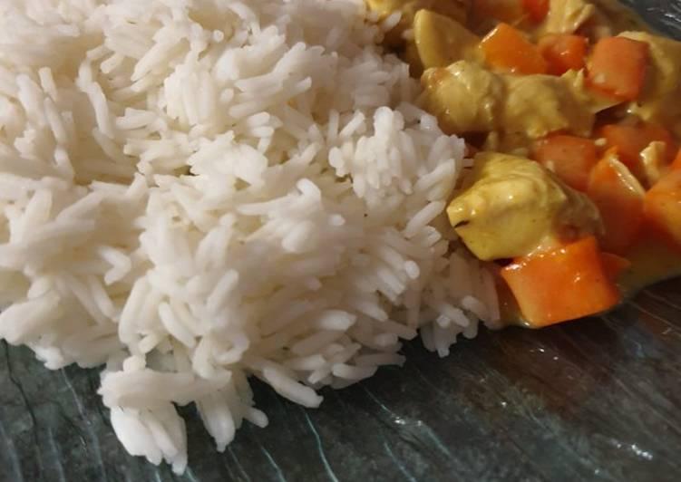 Blanquette poulet au curry rapide au cookeo