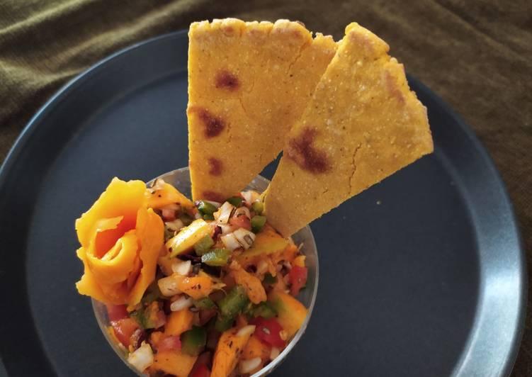 Mango Salsa with Corn Sticks