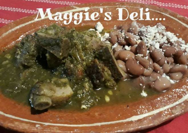 Costillas de puerco 🐷🐖en salsa verde (tomatillo de milpa)