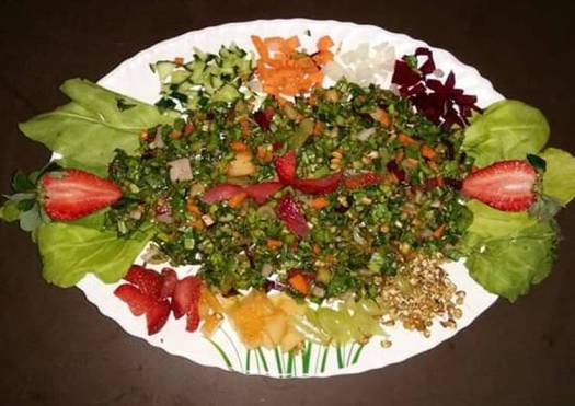 Fruits-Sprouts-Vegetable Salad