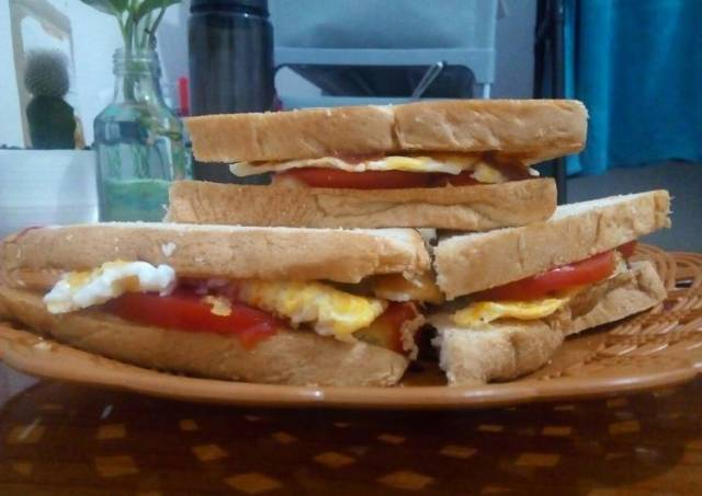 Sandwich Telur untuk Sarapan