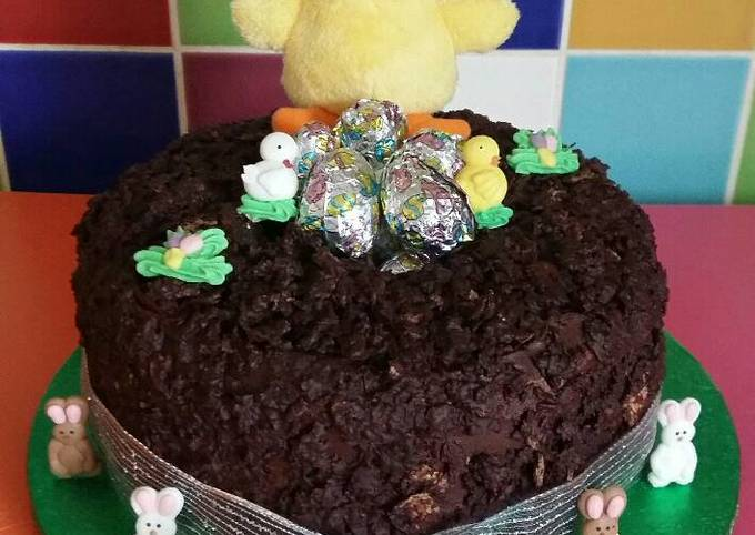 Vickys Easter Nest Cake with Mini Egg Truffles, GF DF EF SF NF