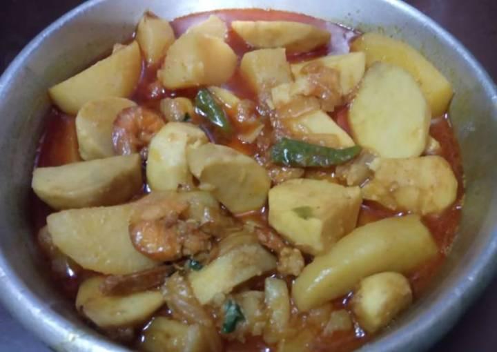 Prawn colocasia curry