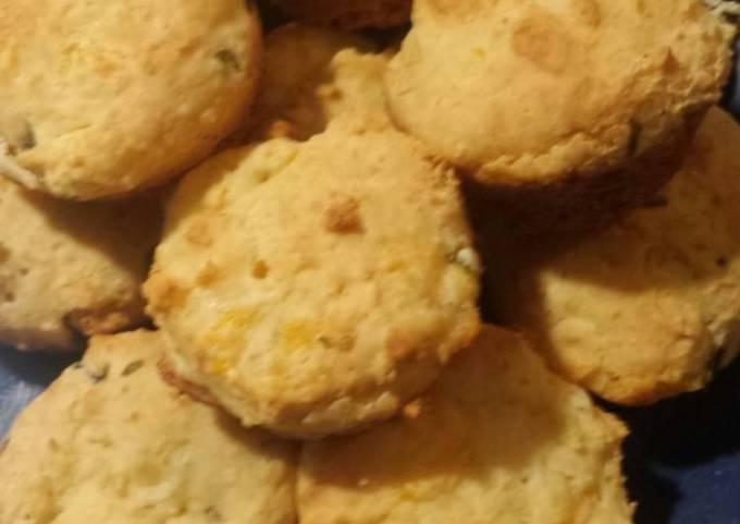Jalapeño 2 cheese pancake biscuits