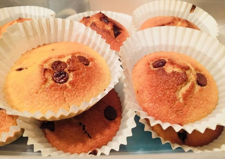 Muffins pépites  de chocolat sans gluten