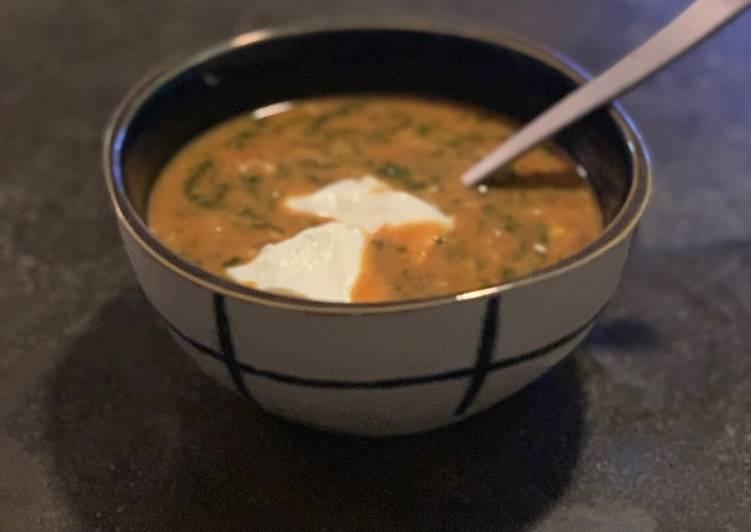 Vegan coconut lentil soup