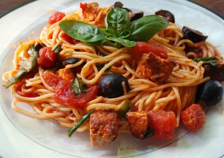 Spaghetti with Tofu